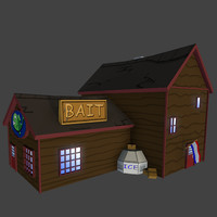 3d cartoon bait shop