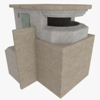 3d coastal ridge line bunker model