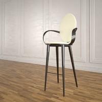 3dsmax bastide bar stool