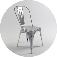 A Chair - Varnished raw steel - Tolix