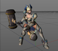 3d girl animations hammer fantasy model