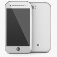 noname phone mobil 3d obj