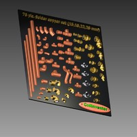 76 pic. copper metric soldering pipe&fittings set (15,18,22,28 mm)