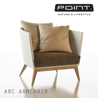 maya point arc outdoor armchair