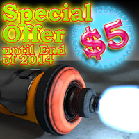 handheld industrial laser cutter 3d obj