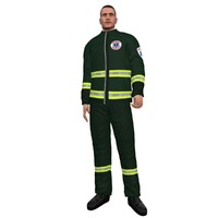 3d model rigged paramedic