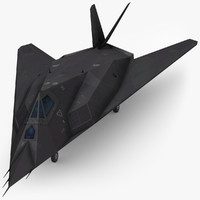 3d model low-poly lockheed f-117 nighthawk