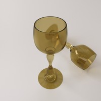 wine glass 3d 3ds