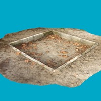 3d old children s sandpit model