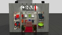 fair stand exhibition 3d model