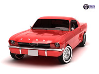 3d mustang 1967 coupe model