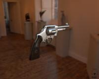 revolver gun c4d