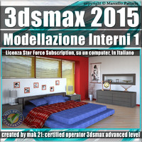 3ds max 2015 Modellazione Interni 1 Subscription