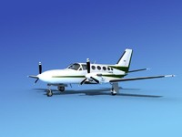 3d model scale cessna 425 conquest