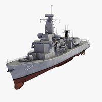 3d model f930 leopold 1 frigate