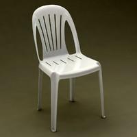 3d max realistic monobloc chair