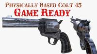 3d model ready colt 45