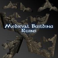 3d ruins buildings