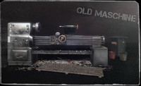 3d old lathe machine