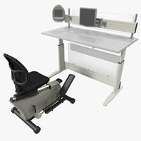 maya elliptical machine office desk