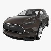tesla x 2015 interior 3d model