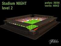 stadium level 2 3d model