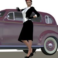 3d model retro outfit v4