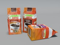 gourmet coffee bags 3d 3ds