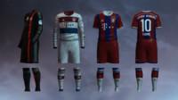 3d soccer jersey bayern munich