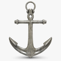 anchor 2 old silver 3d model