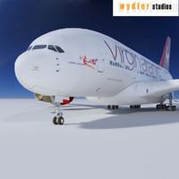 3d a380 virgin atlantic