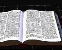 Open Book Textured (Low Polygon)