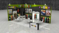 3d model fair exhibition stand