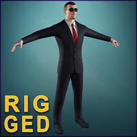 bodyguard guard 3d model
