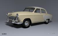 3d model of gaz-m21i volga 2