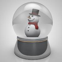 3d model snowball snow ball