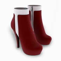3d female winter suede boots model