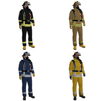 maya pack rigged fireman