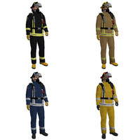 3d model pack rigged fireman