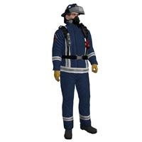 3dsmax rigged fireman 3