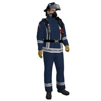 rigged fireman 3 3d max