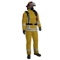 maya rigged fireman