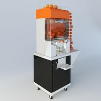 3d orange machine