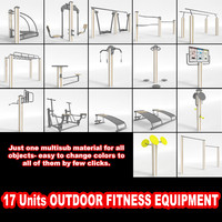 3ds max outdoor fitness equipment
