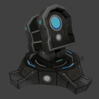 3d science fiction turret