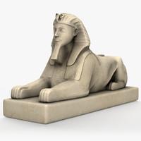 3d model egyptian female sculpture
