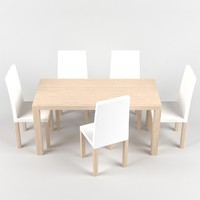 dinner table 3d max