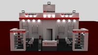 fair exhibition stand 3d model