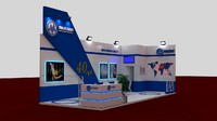 fair exhibition stand 3d max