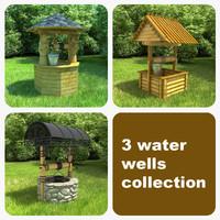 3 water wells 3d 3ds